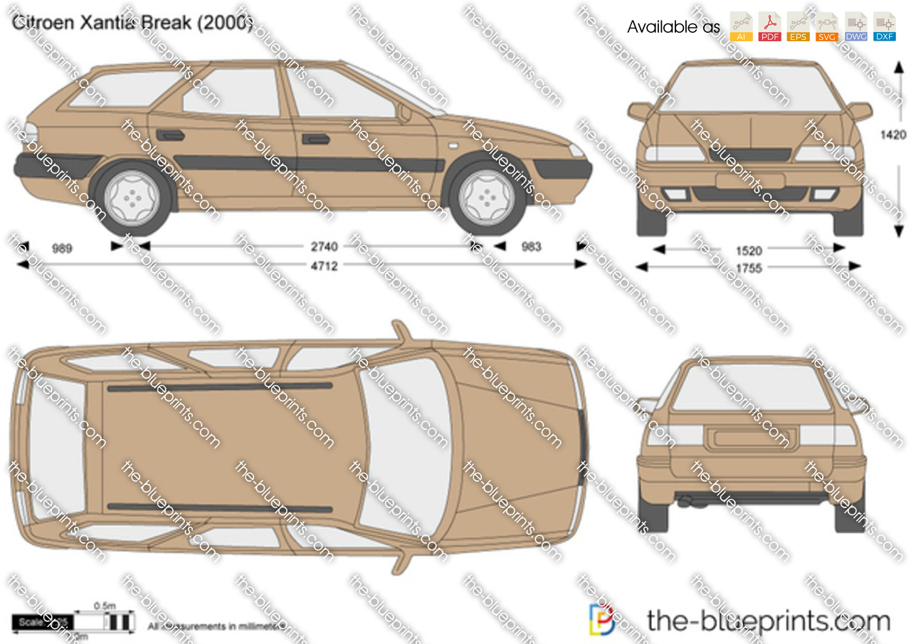the vector drawing citroen xantia break. Black Bedroom Furniture Sets. Home Design Ideas