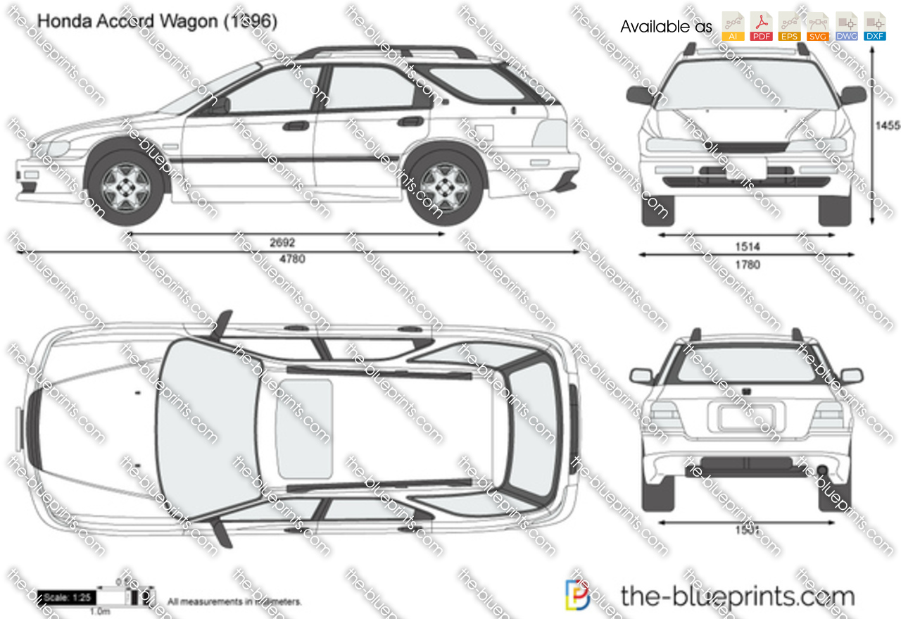 The Blueprints Com Vector Drawing Honda Accord Wagon