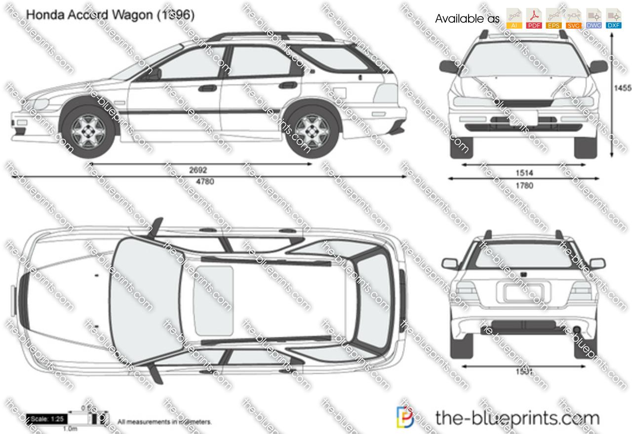 Honda Accord Wagon vector drawing
