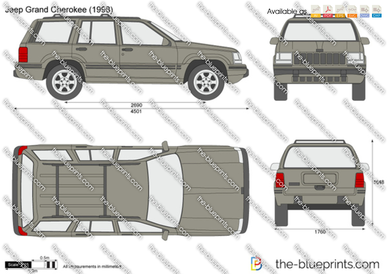 the-blueprints - vector drawing - jeep grand cherokee