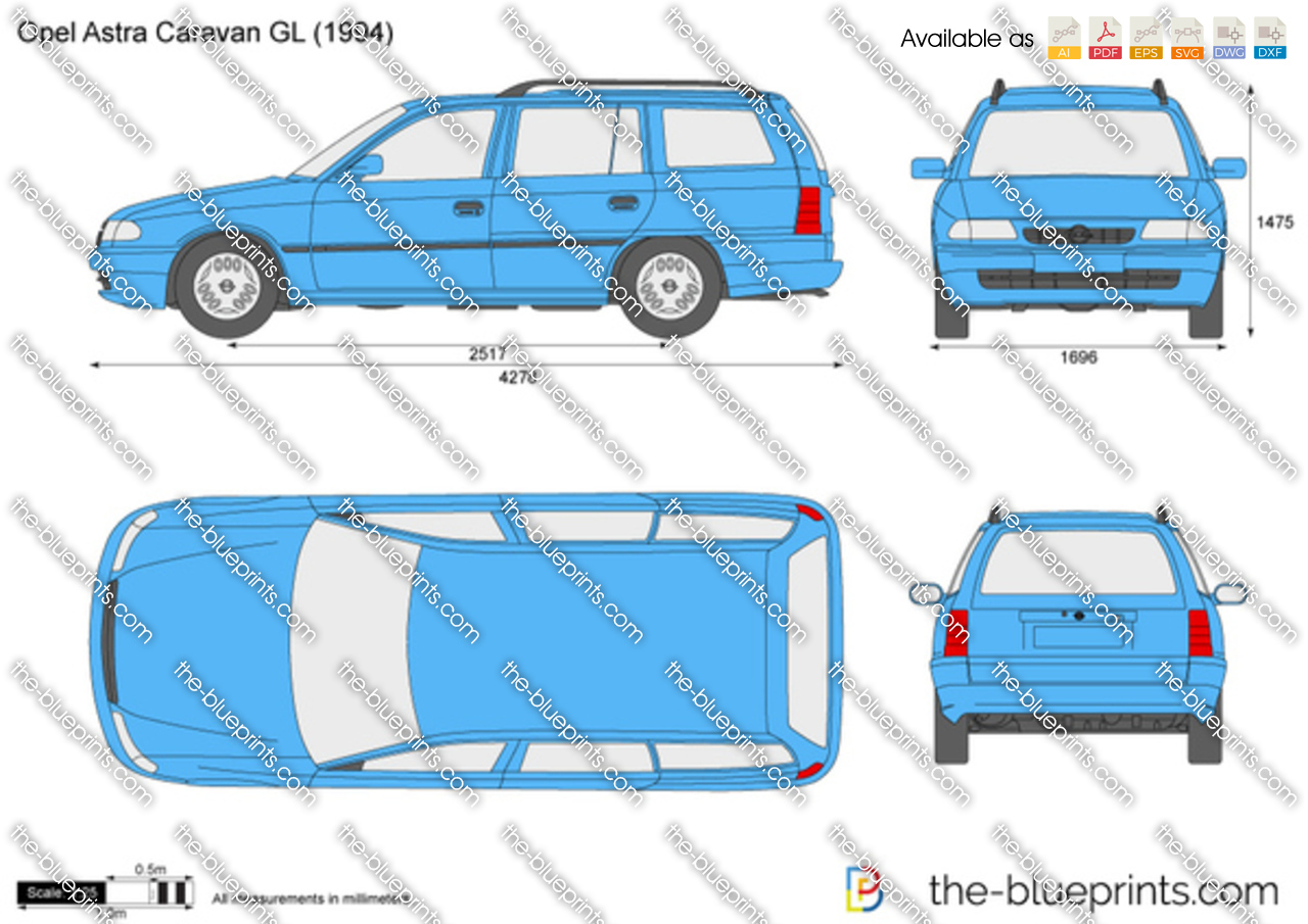 the vector drawing opel astra f caravan gl. Black Bedroom Furniture Sets. Home Design Ideas