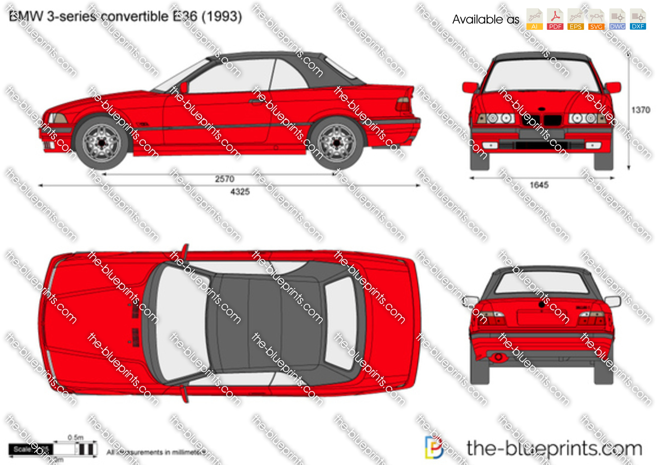 the vector drawing bmw 3 series cabrio e36. Black Bedroom Furniture Sets. Home Design Ideas