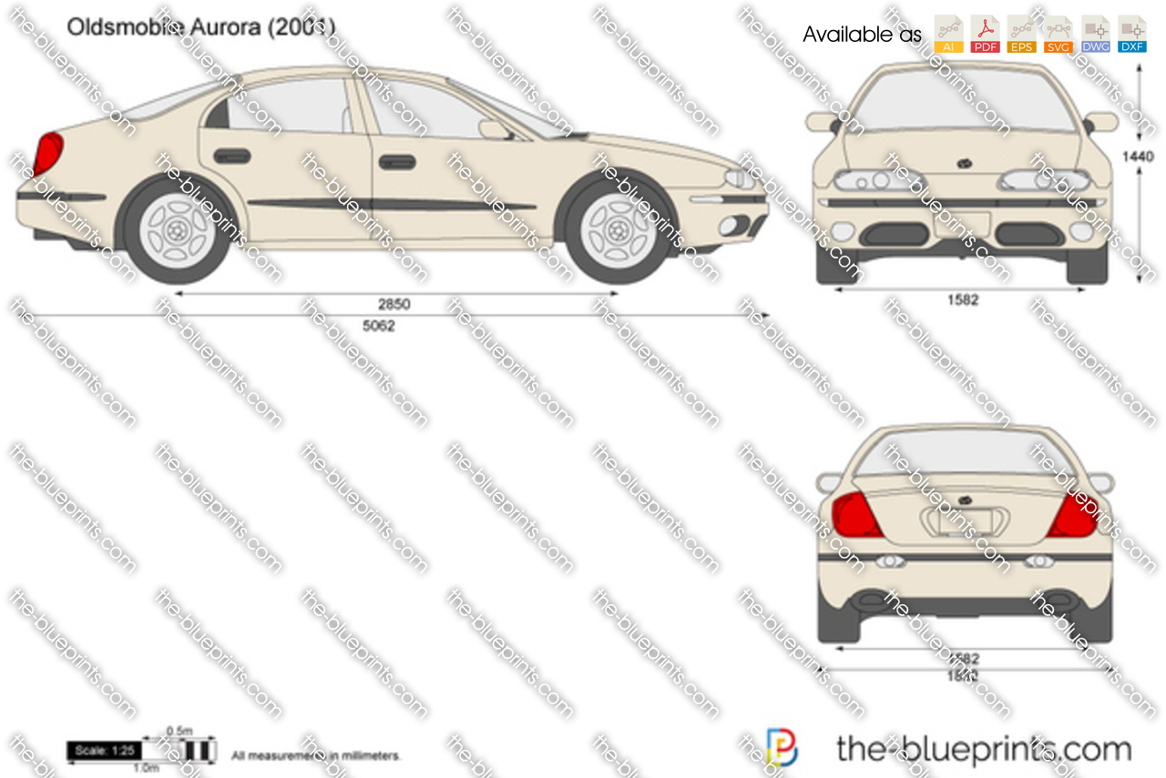 Oldsmobile Aurora Vector Drawing