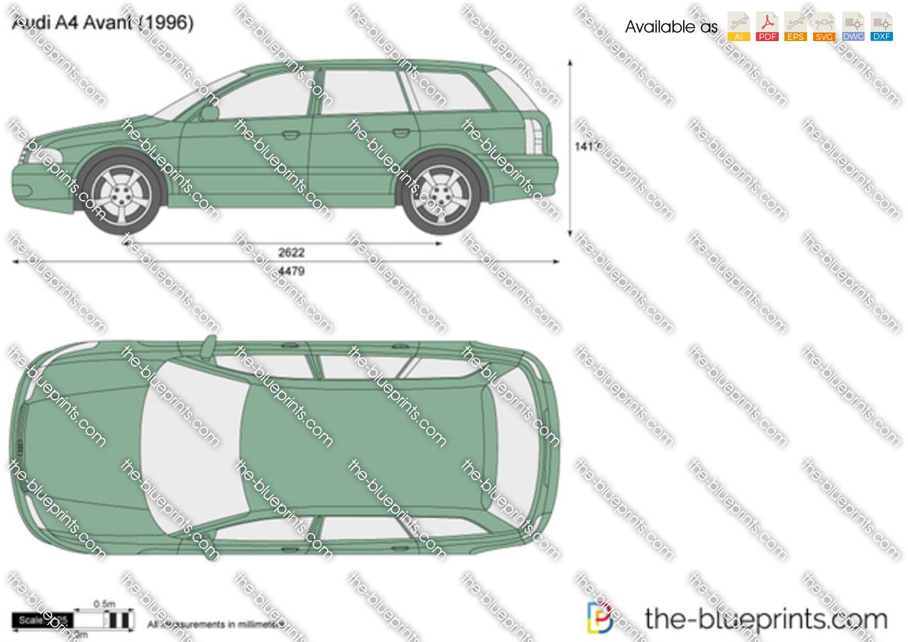 Audi A4 Avant Vector Drawing