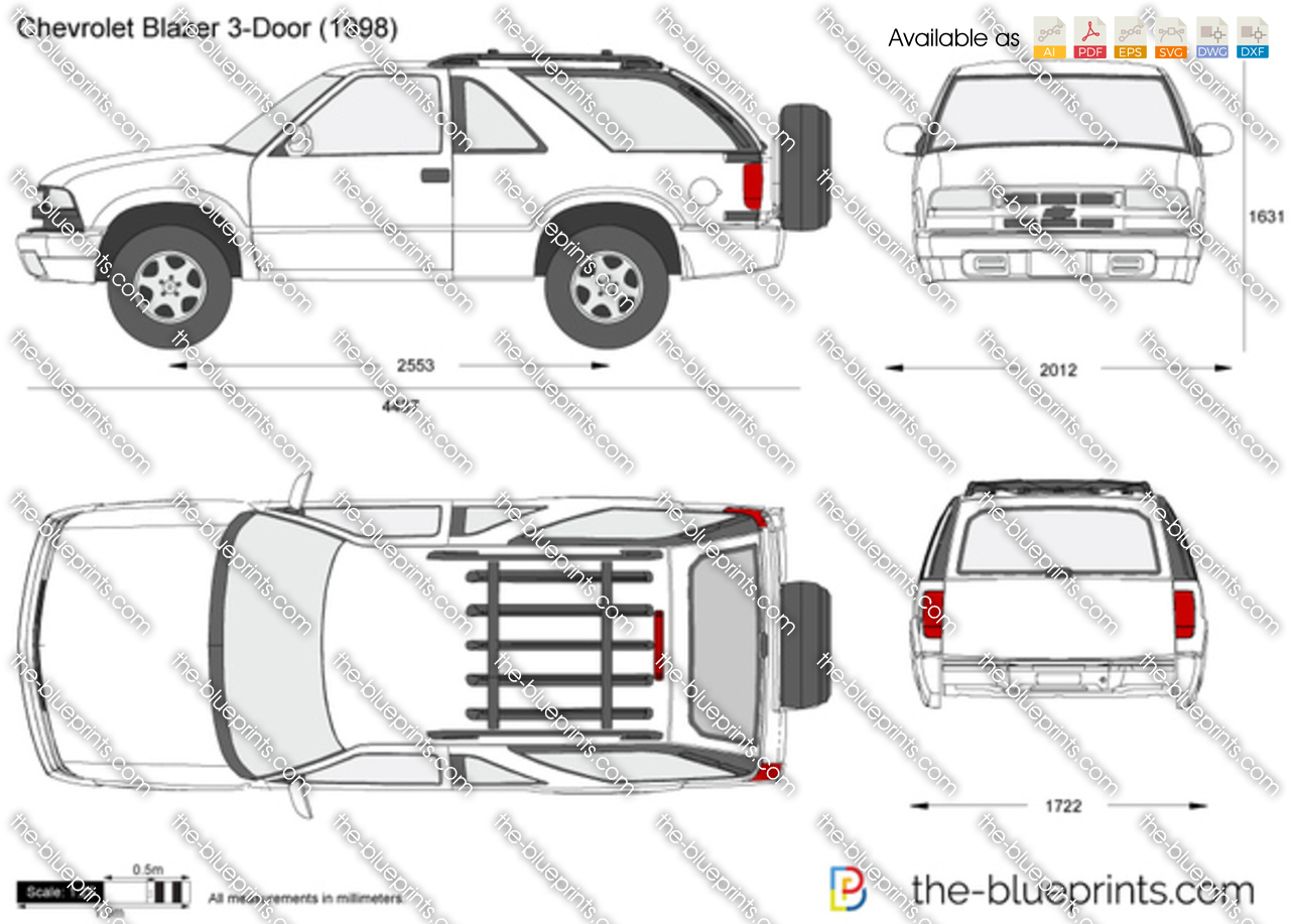 The Blueprints Com Vector Drawing Chevrolet Blazer 3 Door