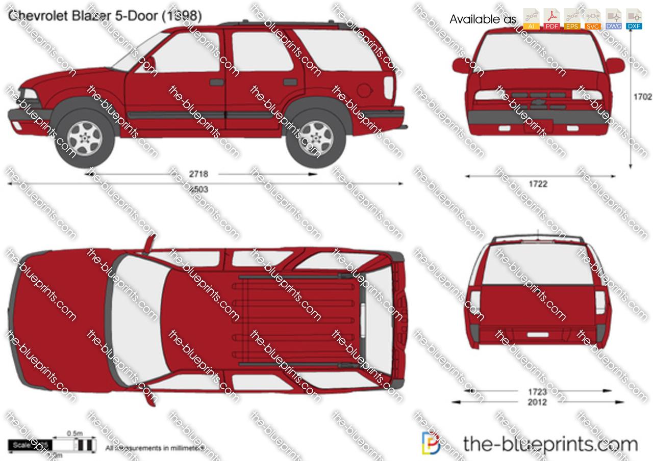 Chevrolet Blazer 5 Door Vector Drawing