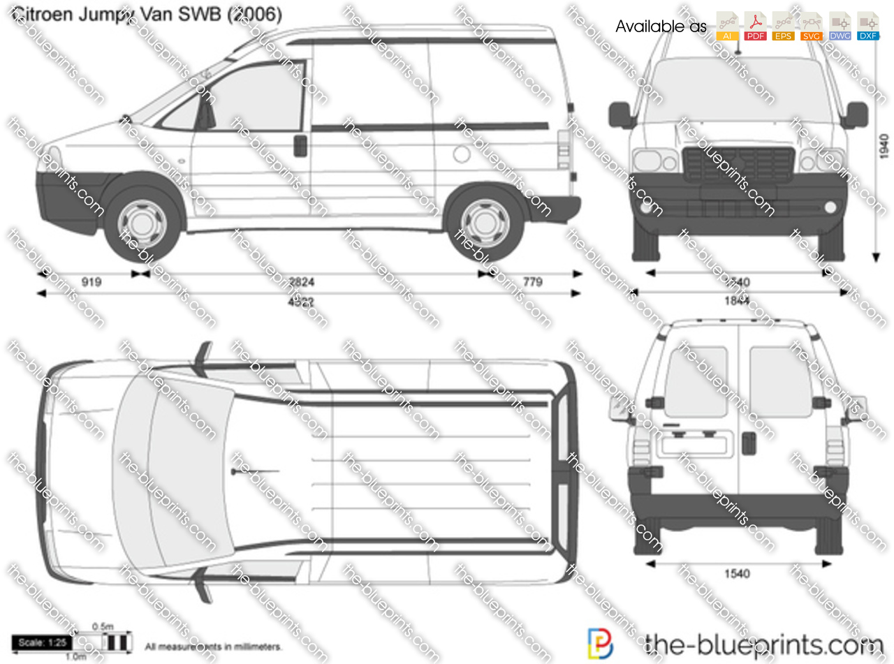citroen jumpy van swb vector drawing. Black Bedroom Furniture Sets. Home Design Ideas