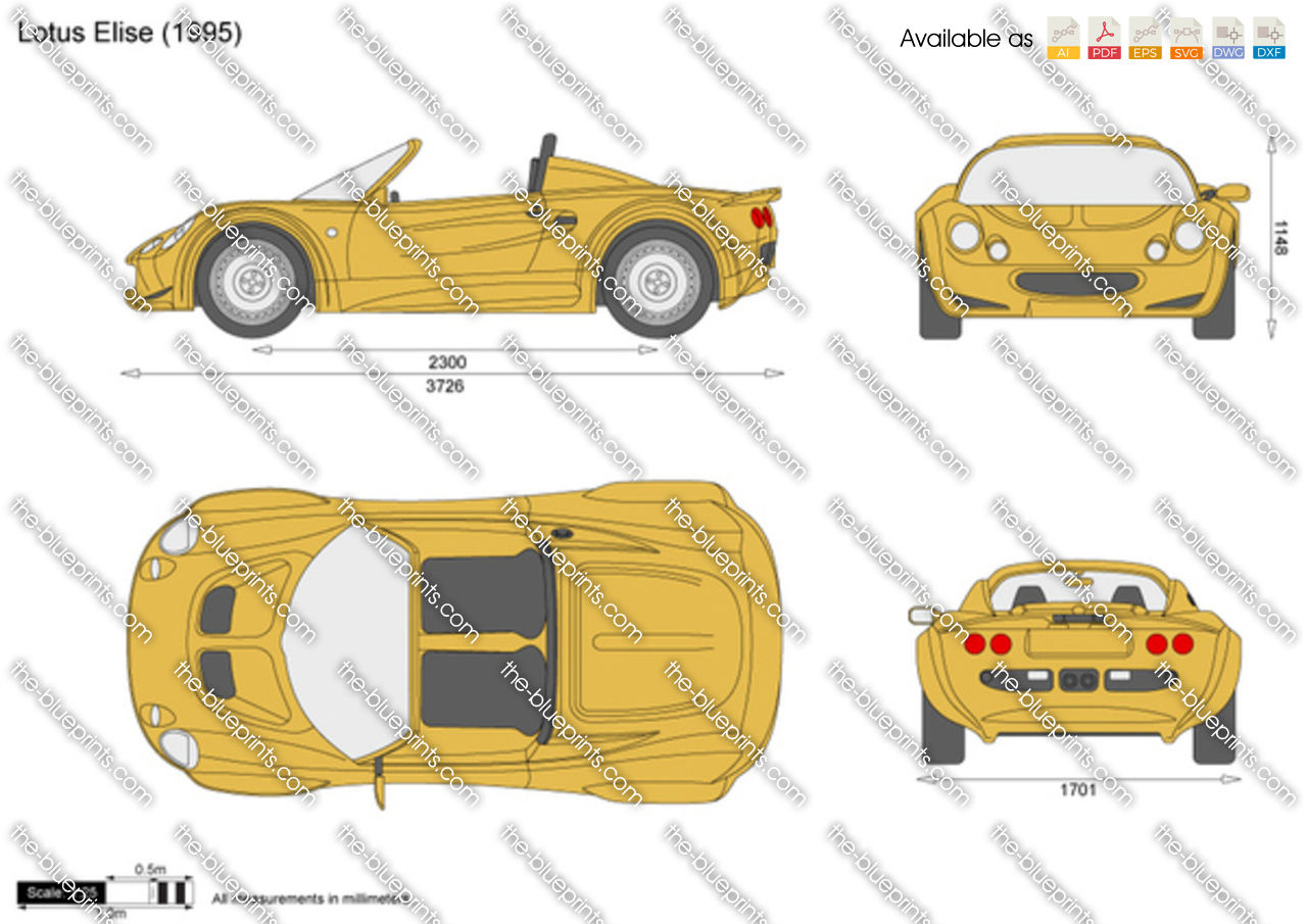 Lotus Elise Vector Drawing