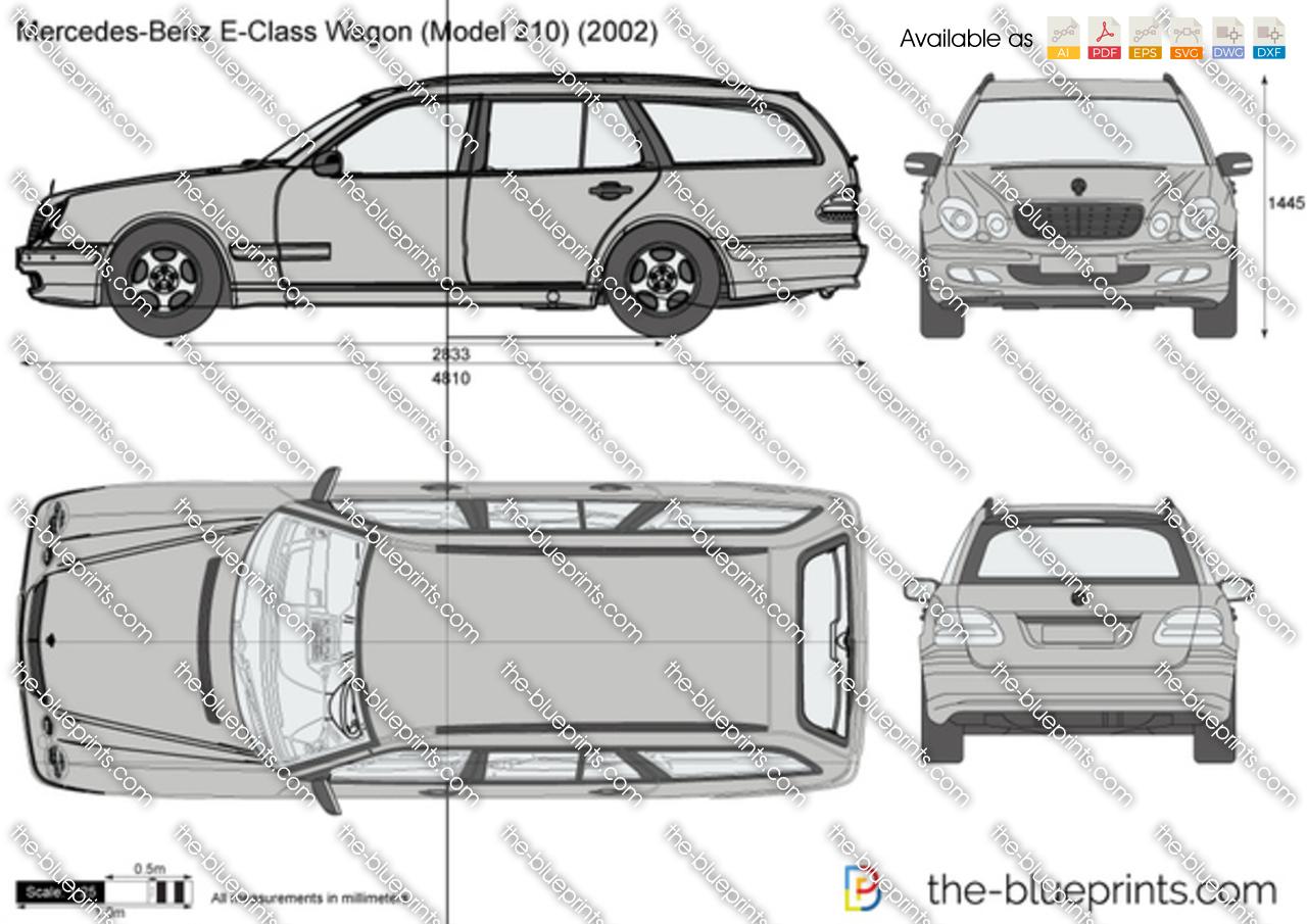 The vector drawing mercedes benz e for 1995 mercedes benz e320 wagon