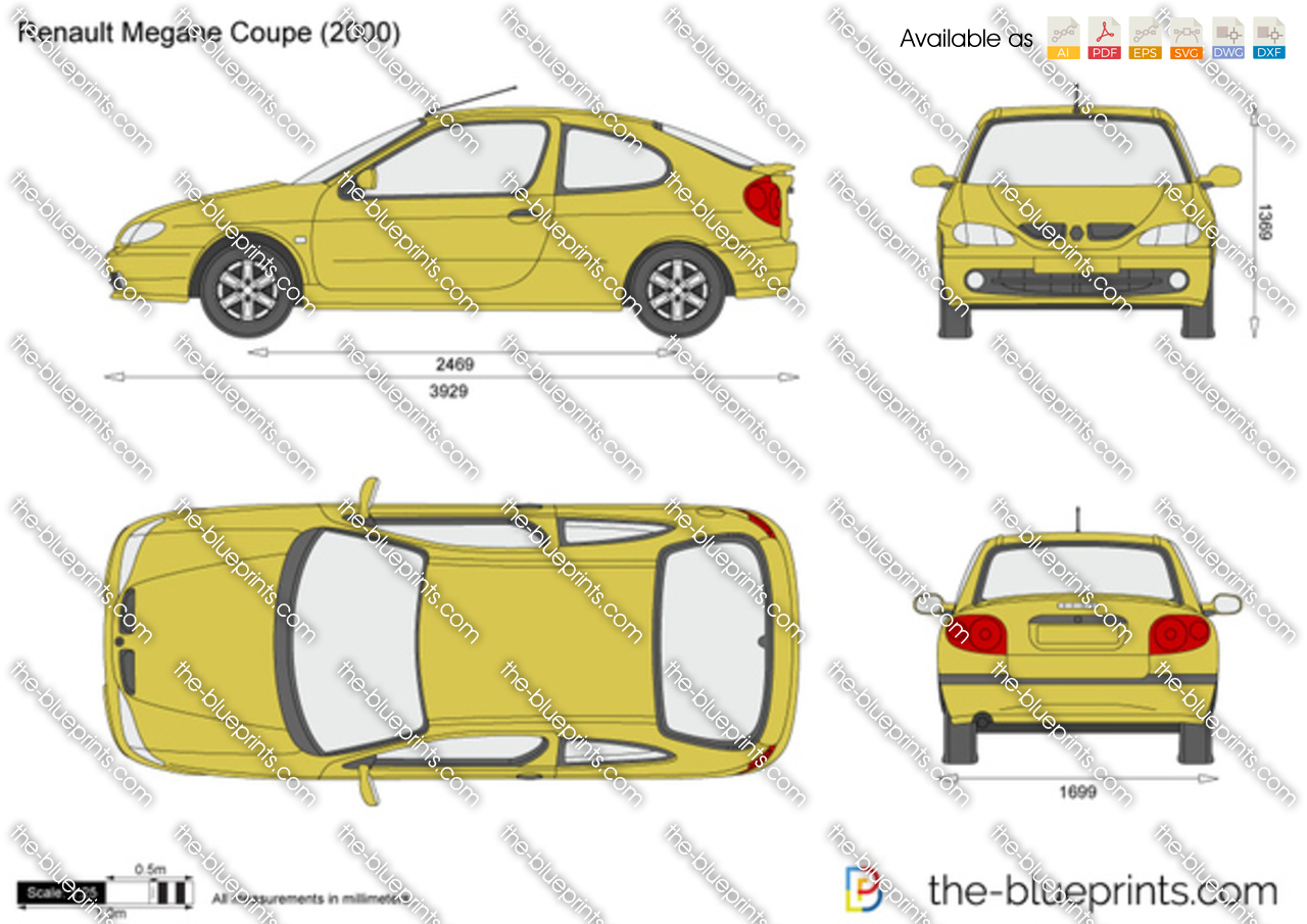 the vector drawing renault megane coupe. Black Bedroom Furniture Sets. Home Design Ideas