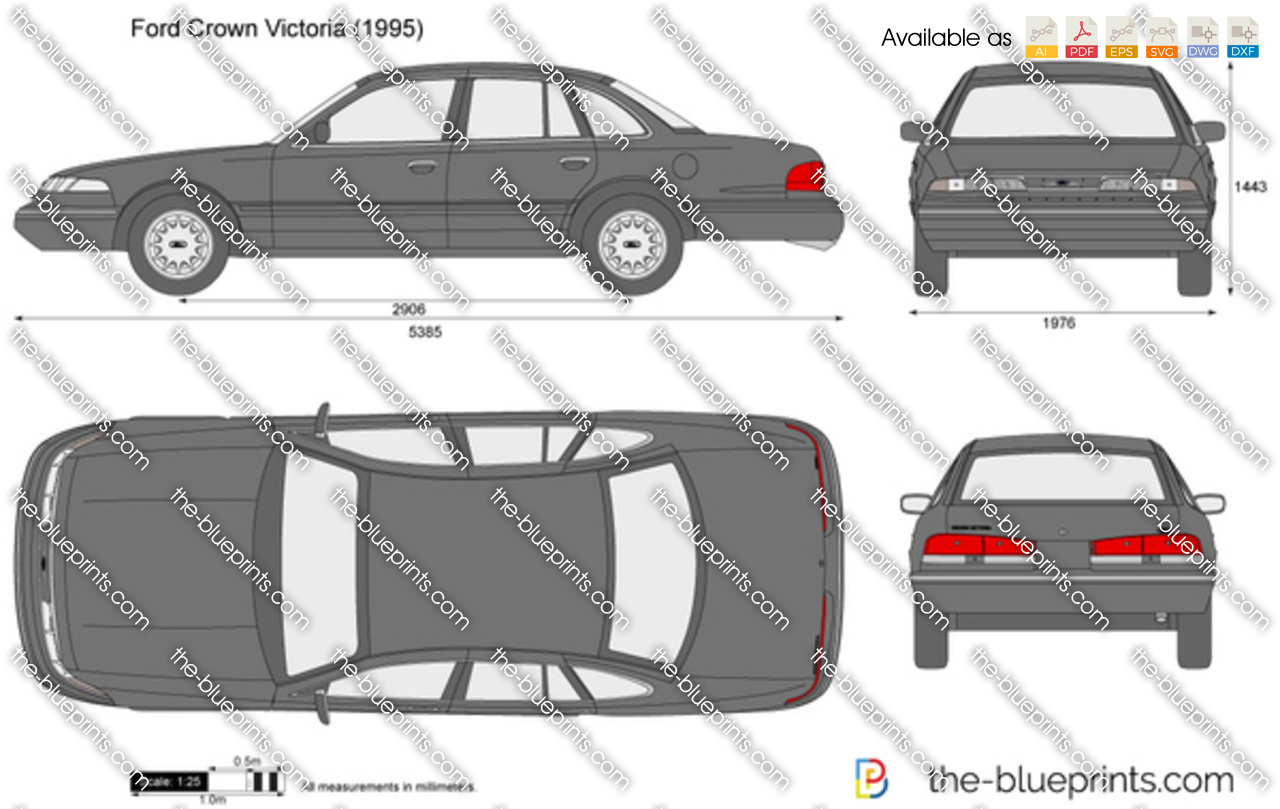 Ford Crown Victoria Vector Drawing