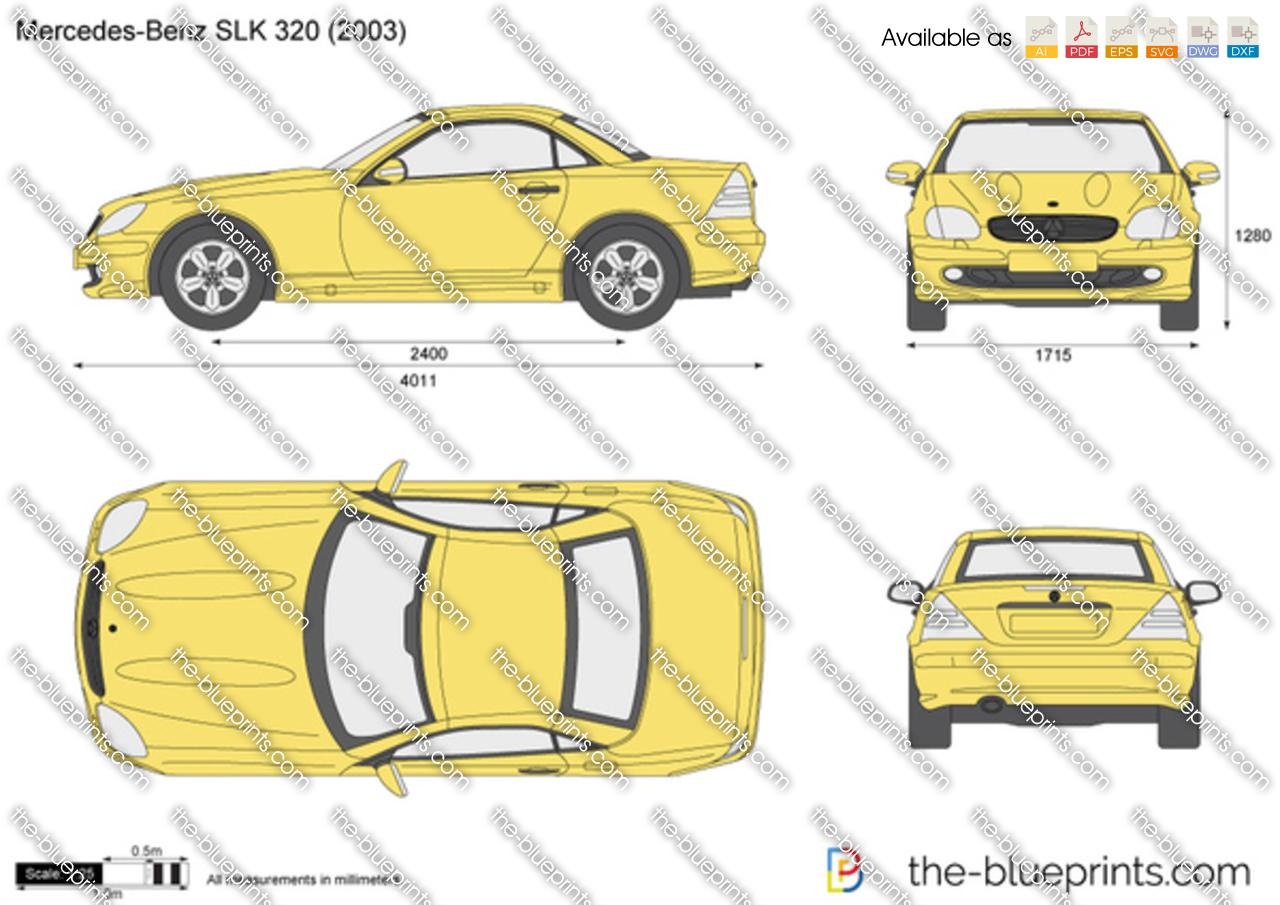 The Blueprints Com Vector Drawing Mercedes Benz Slk