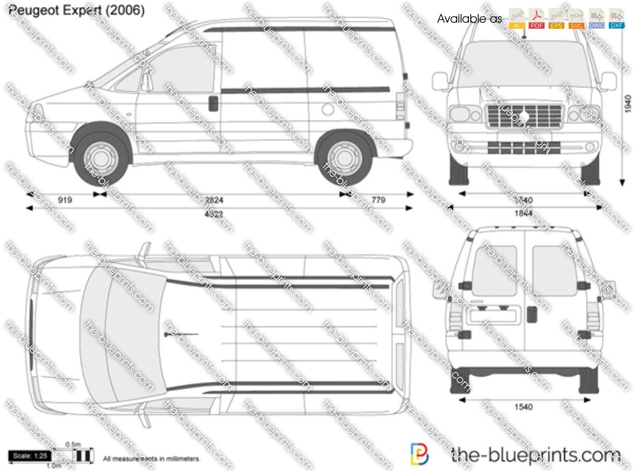 the vector drawing peugeot expert. Black Bedroom Furniture Sets. Home Design Ideas