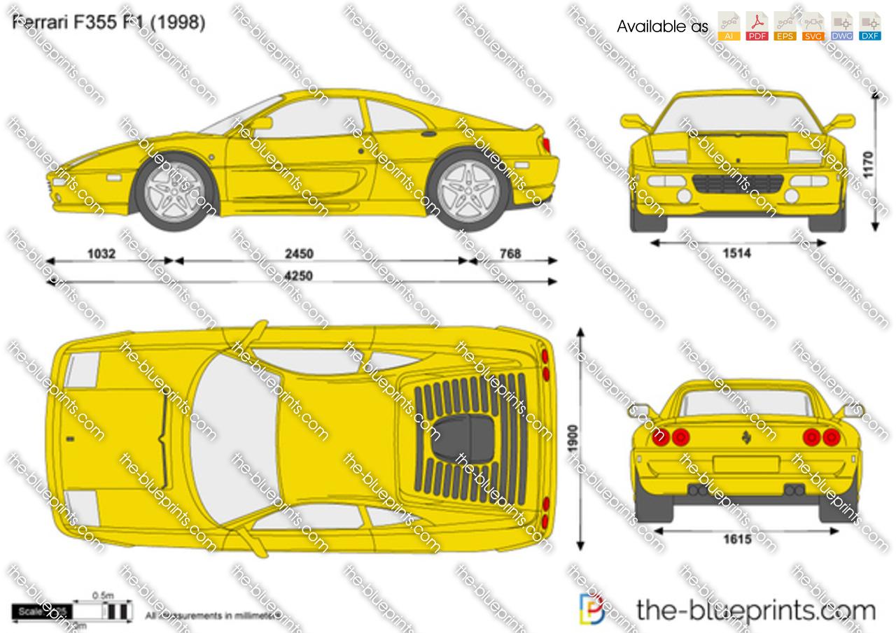 The Blueprints Com Vector Drawing Ferrari F355