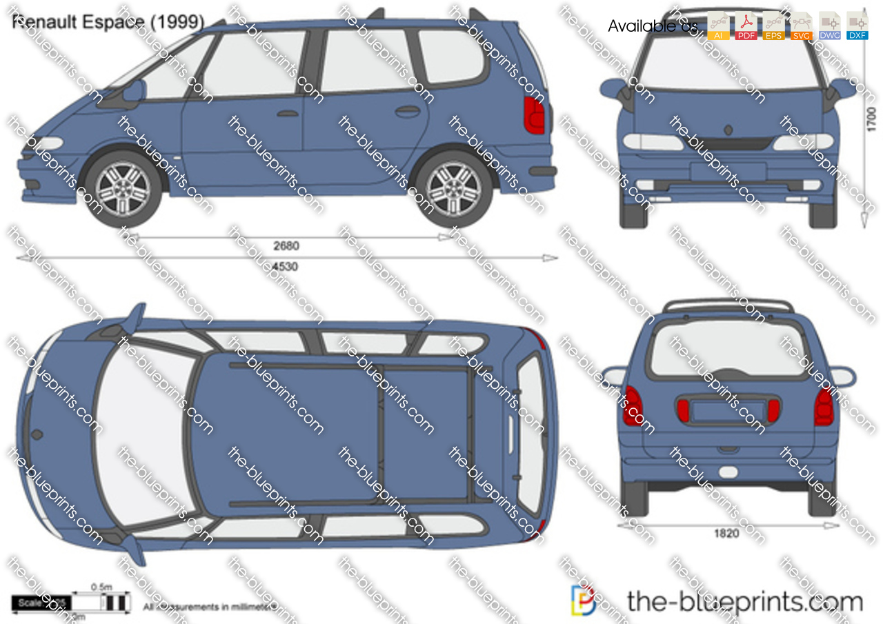 the vector drawing renault espace. Black Bedroom Furniture Sets. Home Design Ideas