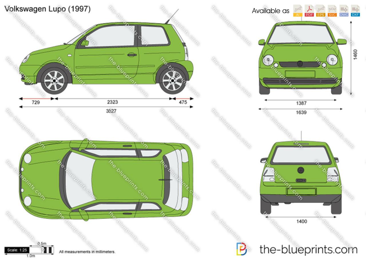 The Blueprints Com Vector Drawing Volkswagen Lupo