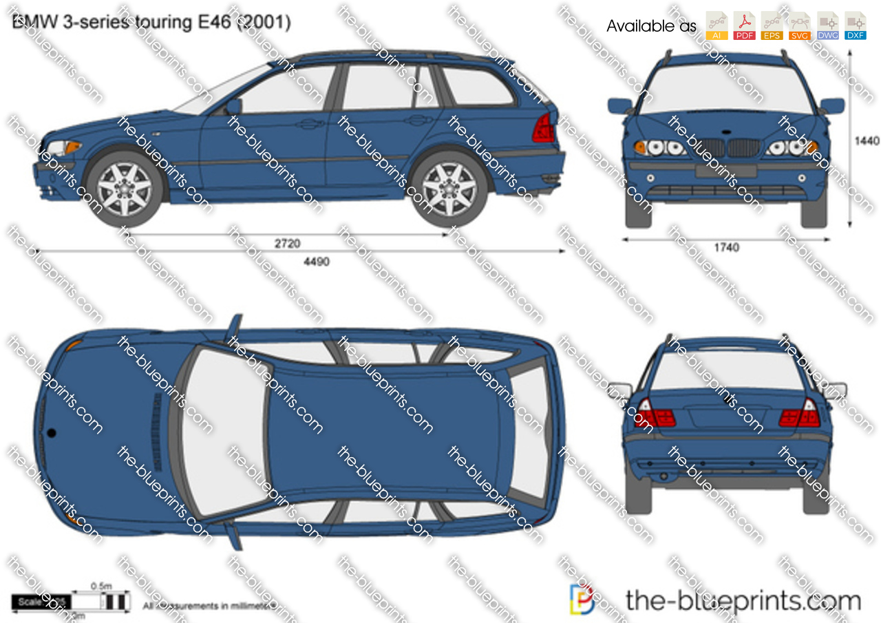 bmw 3 series touring e46 vector drawing. Black Bedroom Furniture Sets. Home Design Ideas