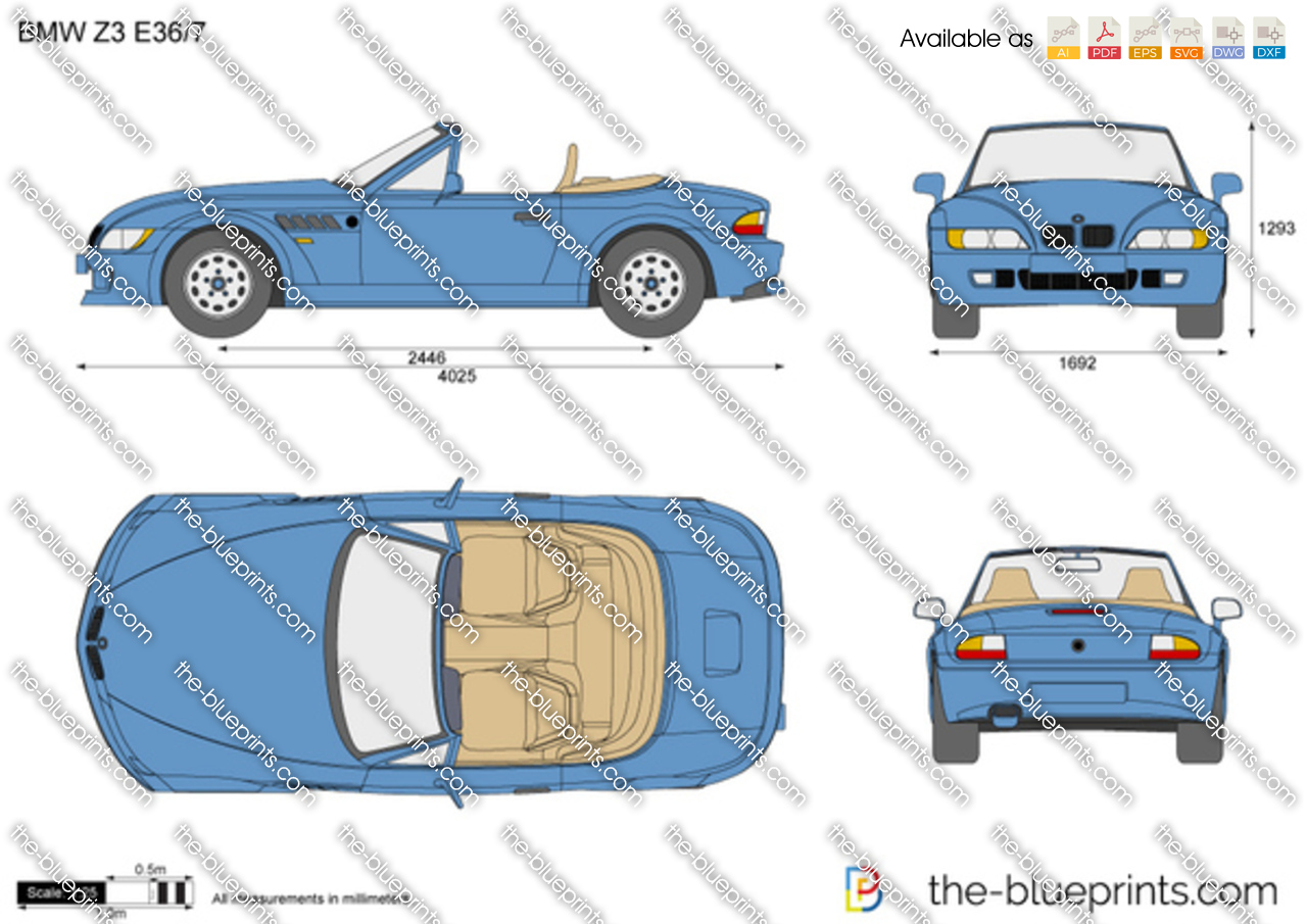 Bmw Z3 Roadster E36 7 Vector Drawing