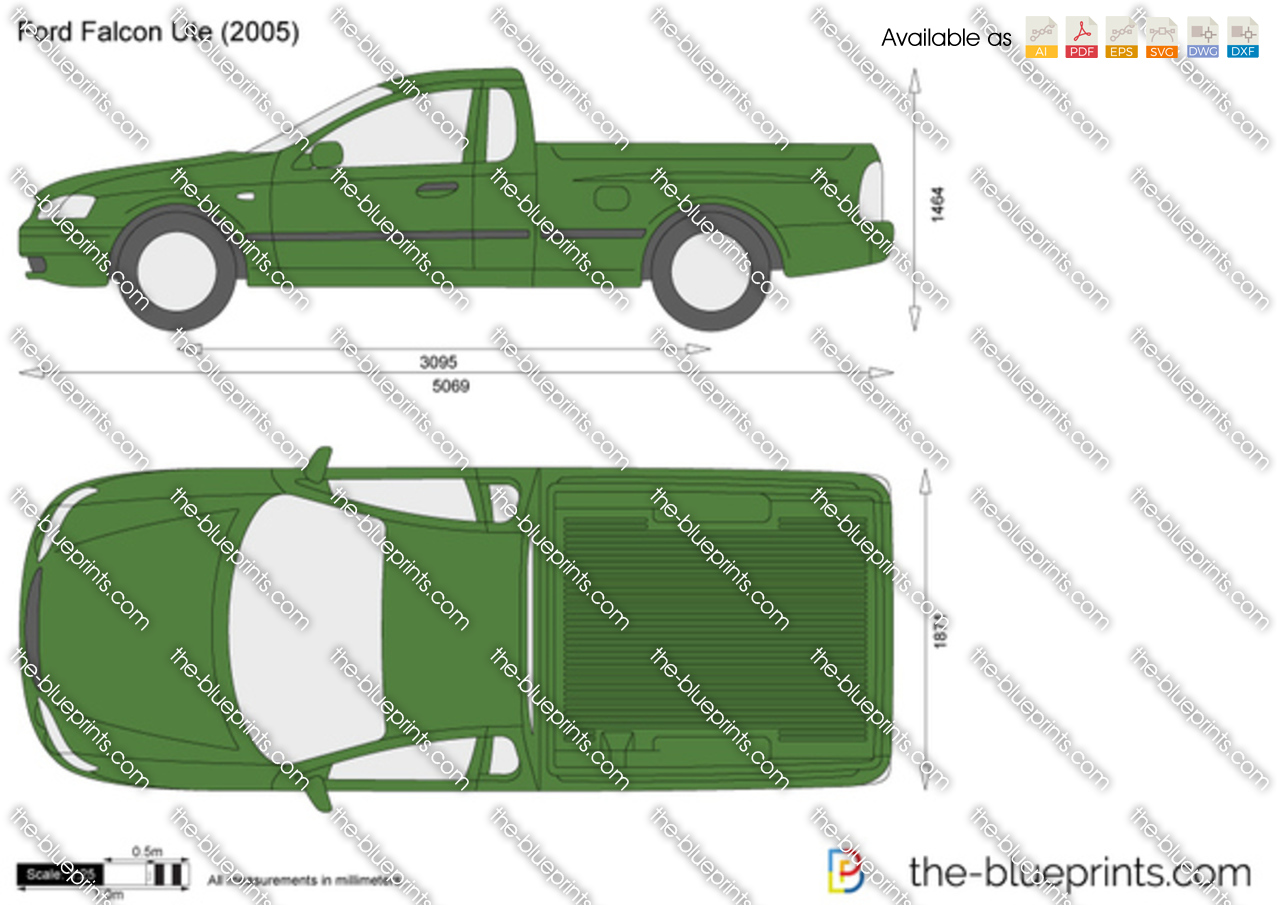Ford Falcon Ute Vector Drawing