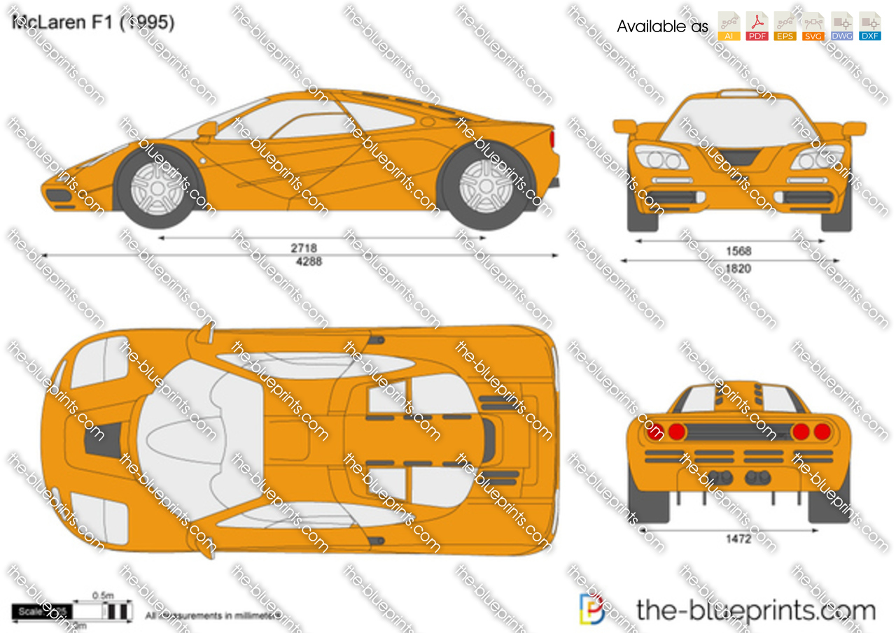 Mclaren F1 Vector Drawing