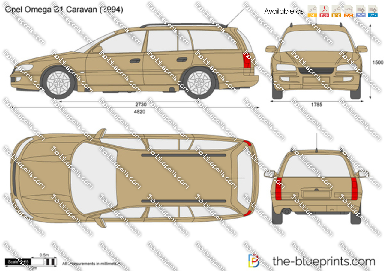 opel omega b1 caravan vector drawing. Black Bedroom Furniture Sets. Home Design Ideas