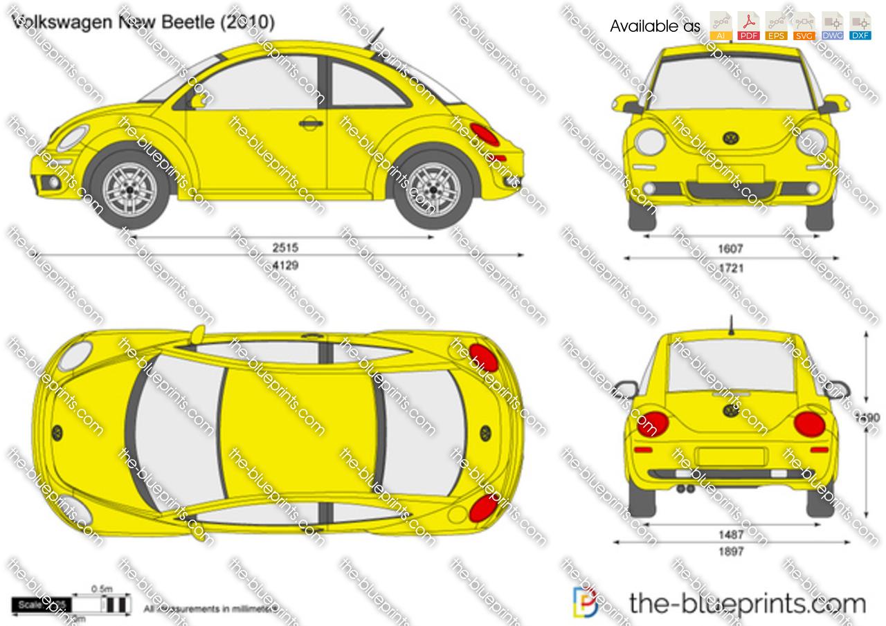 volkswagen new beetle vector drawing