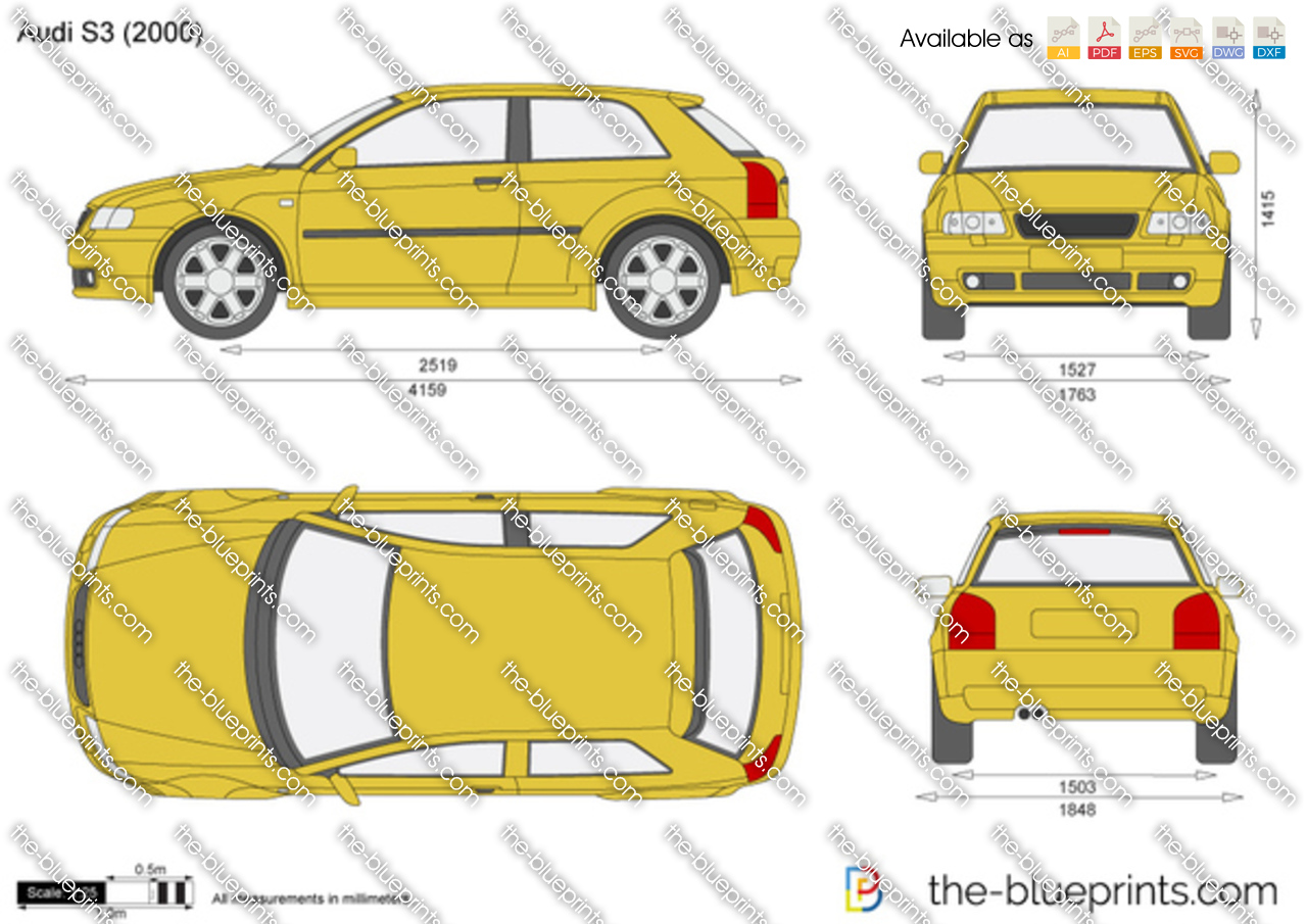 The Blueprints Com Vector Drawing Audi S3