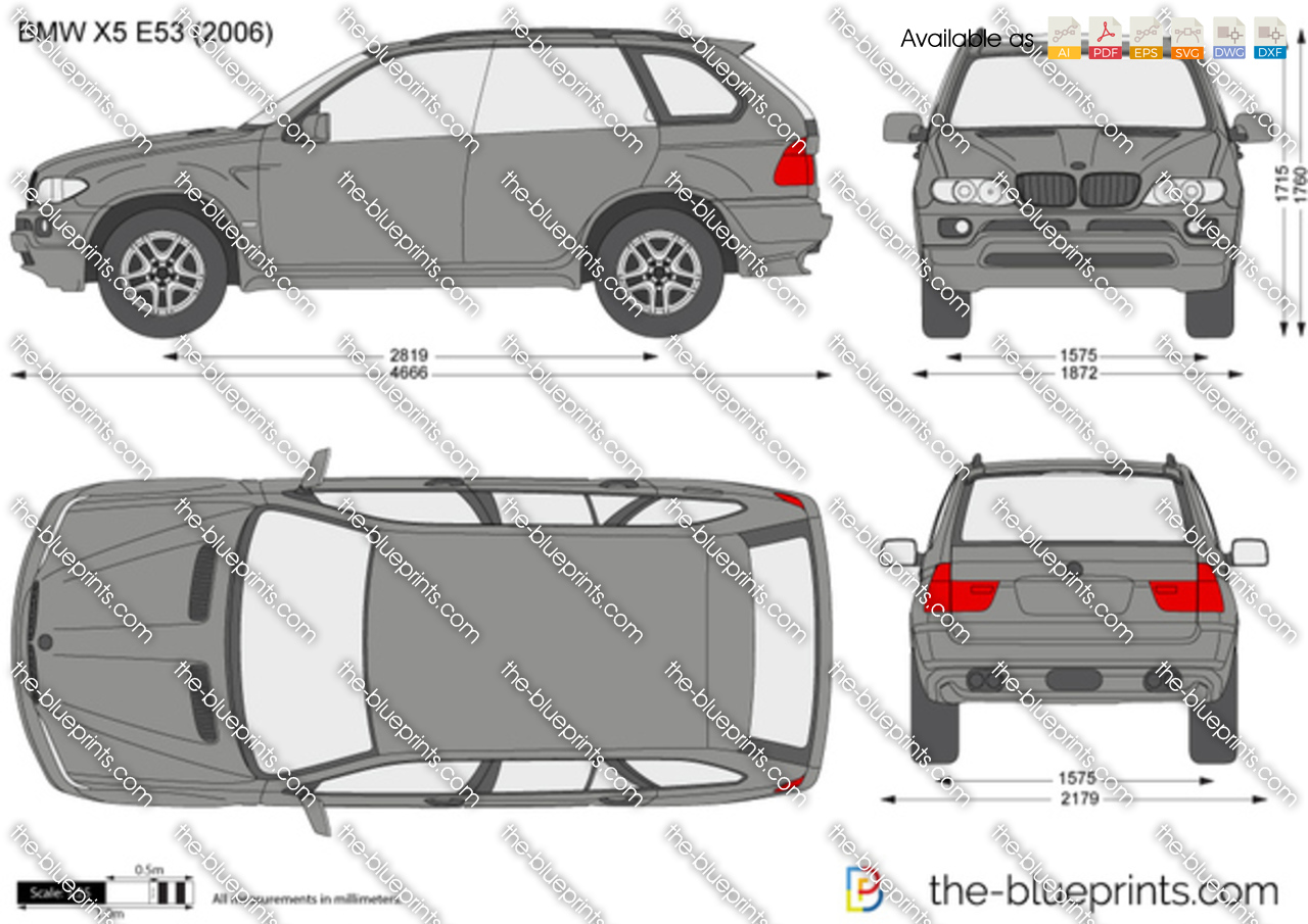 the vector drawing bmw x5 e53. Black Bedroom Furniture Sets. Home Design Ideas