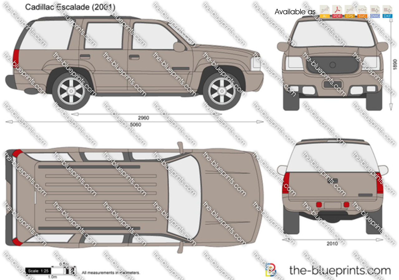 Cadillac Escalade Drawings