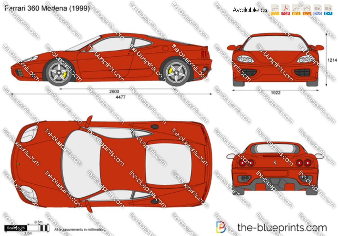 Ferrari 360 dimensions