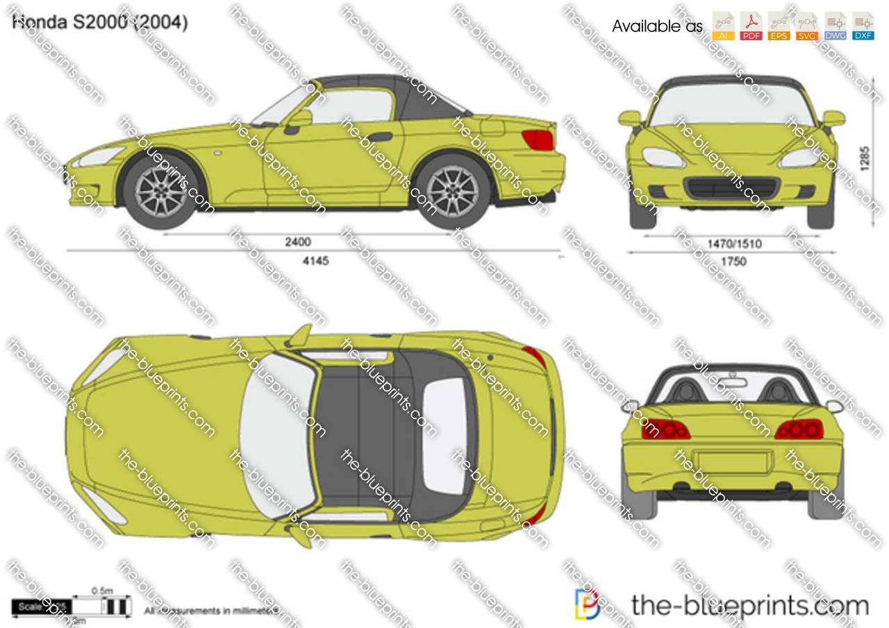 Honda S2000 Vector Drawing