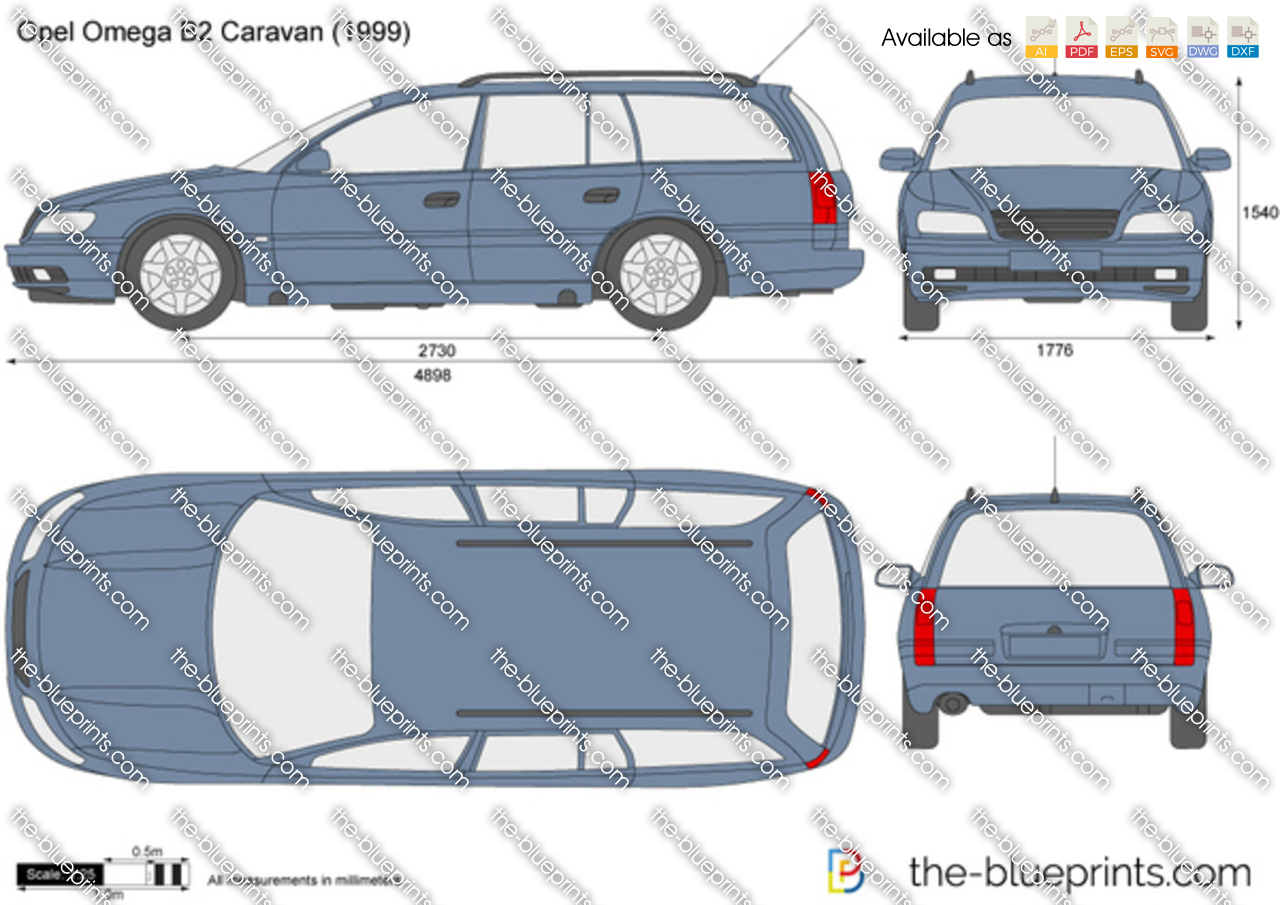 opel omega b2 caravan vector drawing. Black Bedroom Furniture Sets. Home Design Ideas