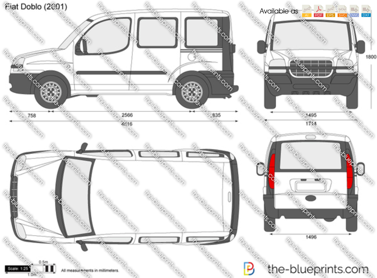 Fiat doblo vector drawing fiat doblo malvernweather Choice Image