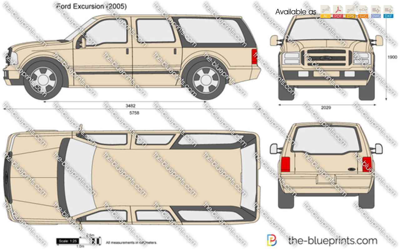 Ford Excursion Vector Drawing