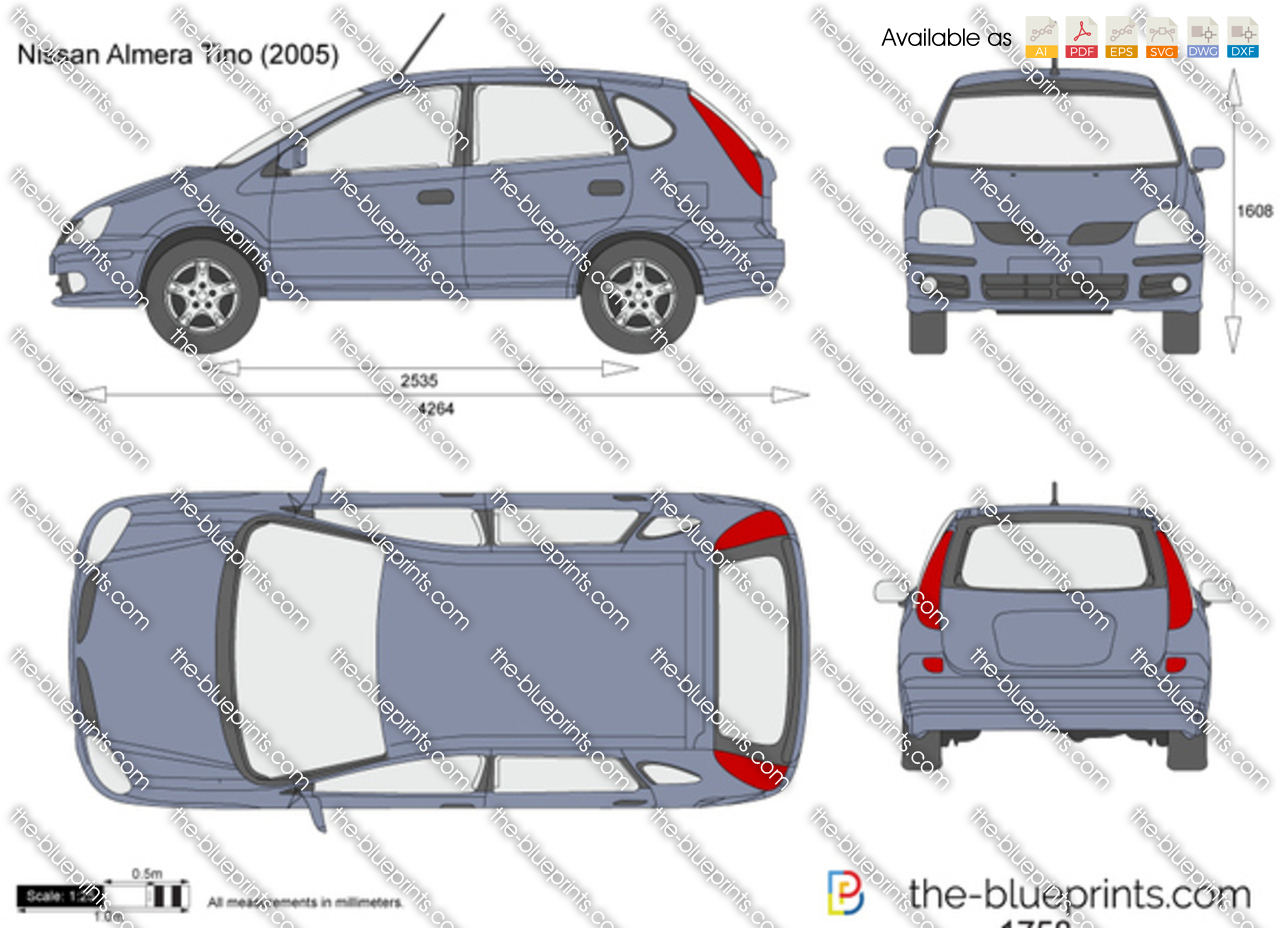 The blueprints vector drawing nissan almera tino nissan almera tino vanachro Gallery