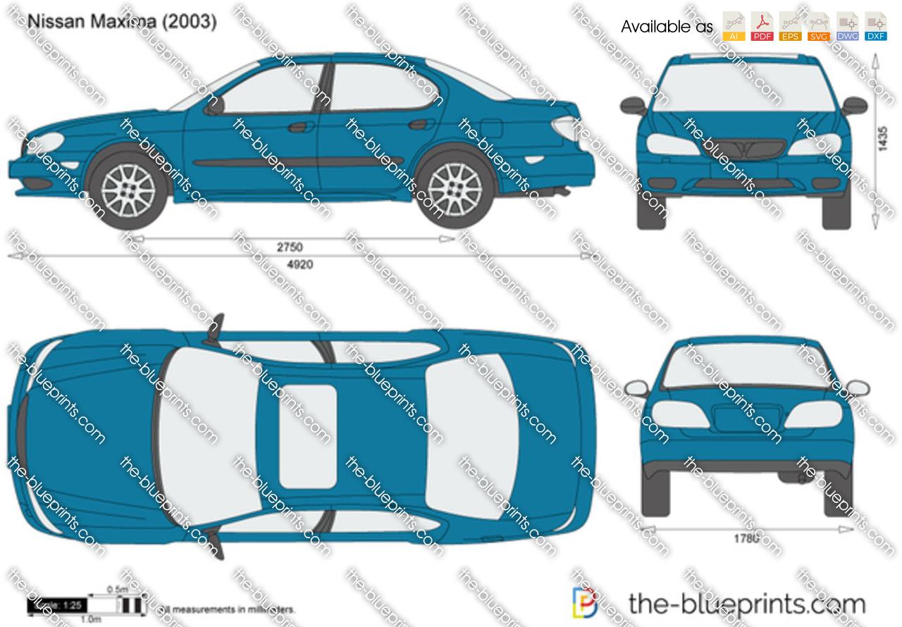 Nissan Maxima Vector Drawing