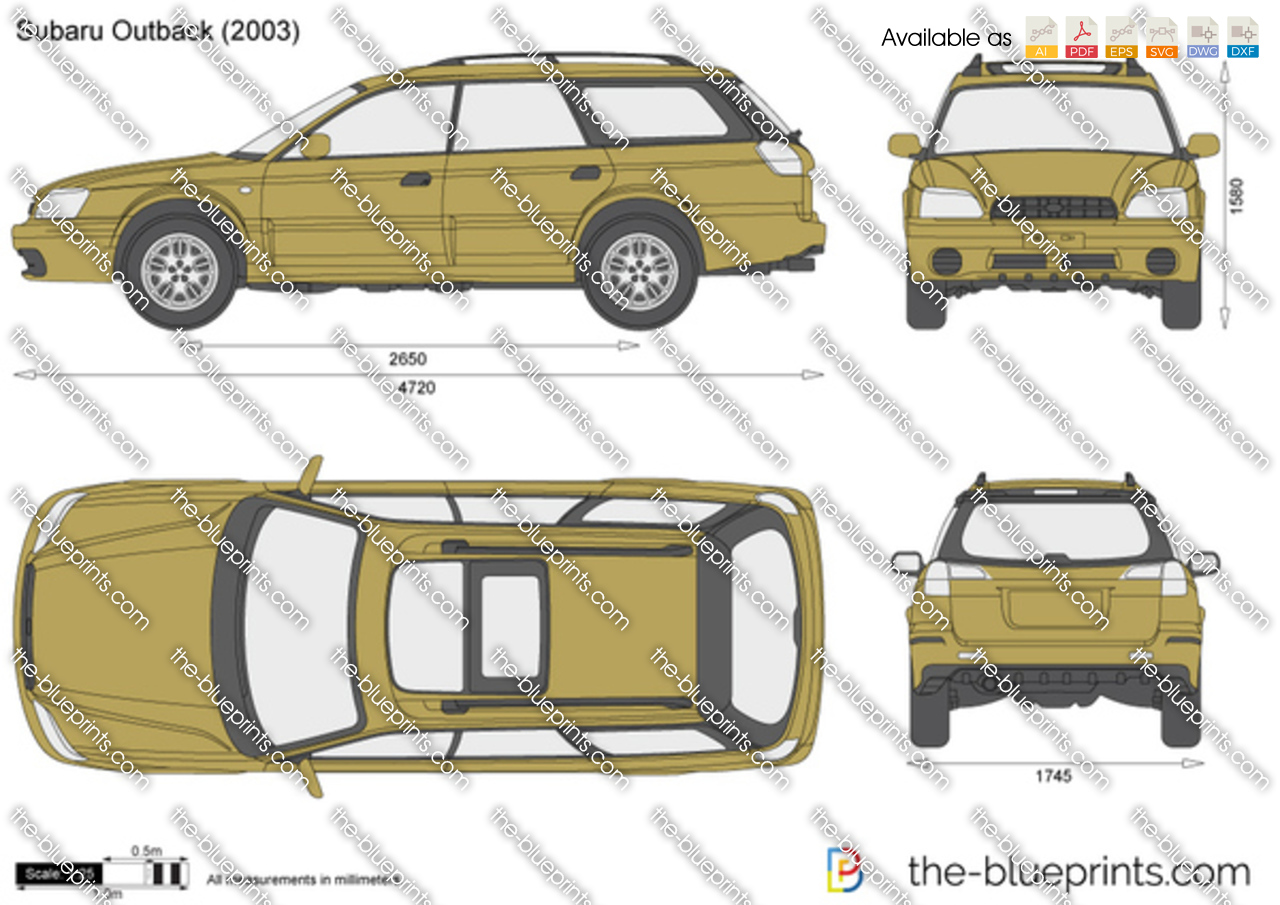 Subaru Outback Vector Drawing