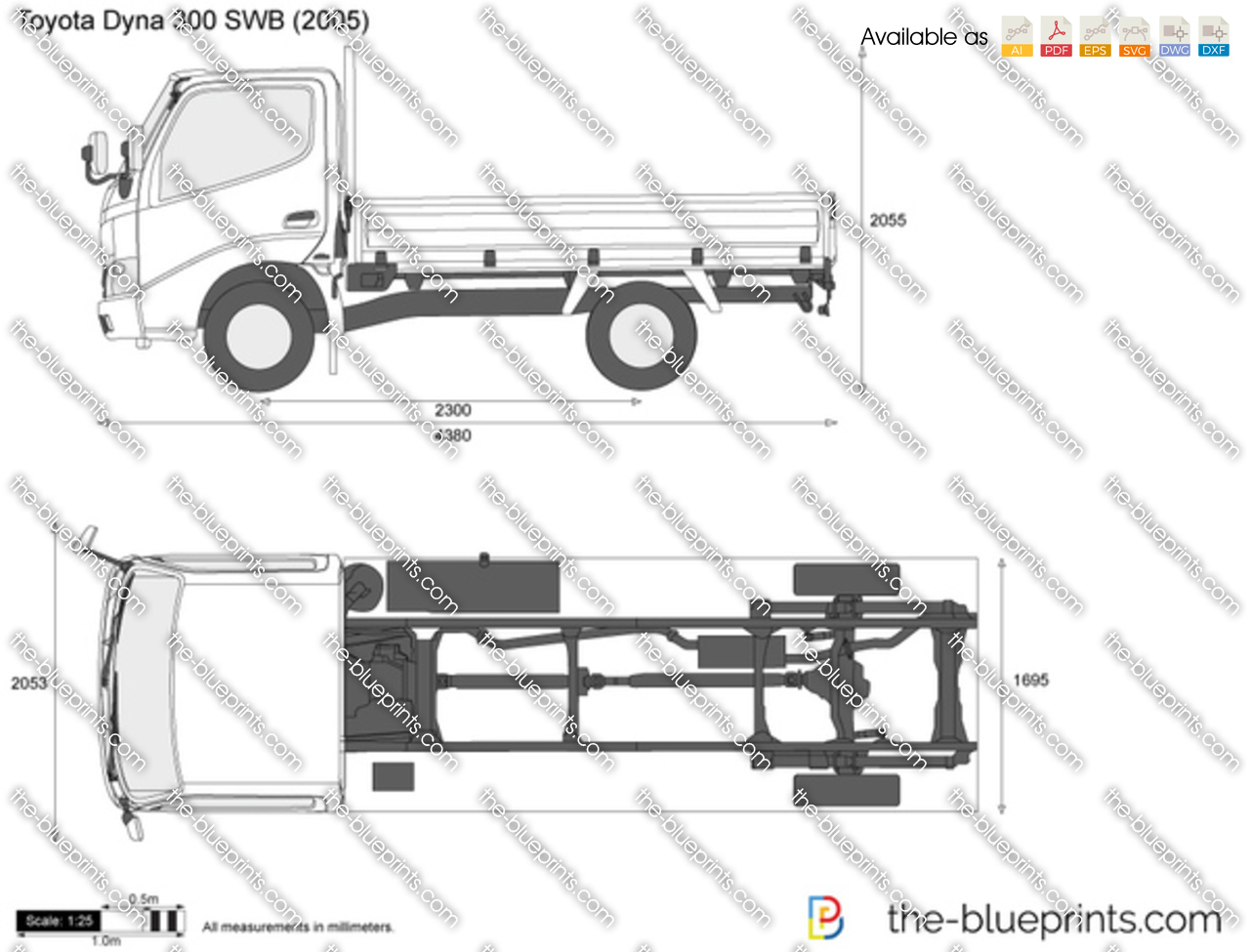 The Blueprints Com Vector Drawing Toyota Dyna 300 Swb