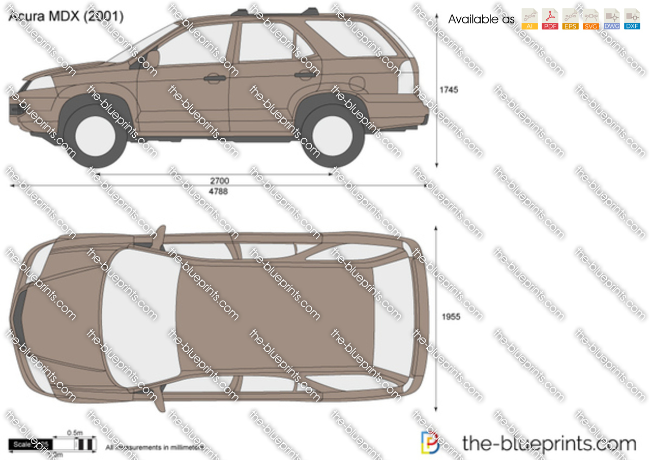 Acura Mdx Vector Drawing