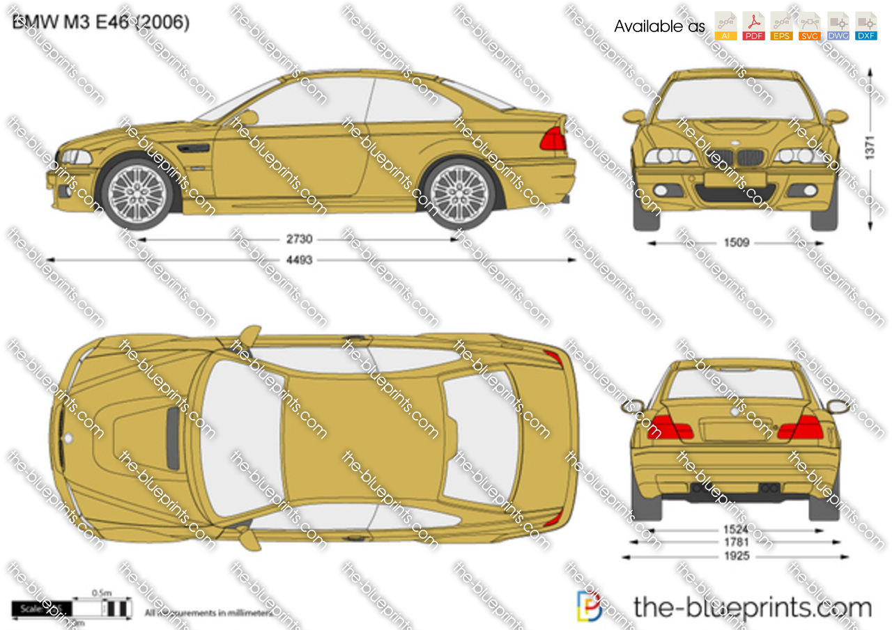 The-Blueprints.com - Vector Drawing - BMW M3 E46