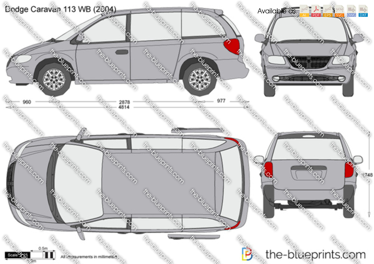 The vector drawing dodge caravan 113 wb Blueprints for sale