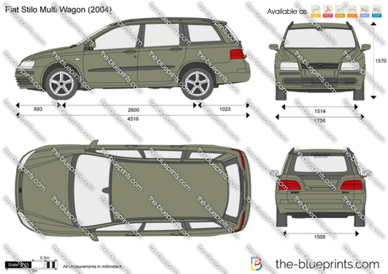 The Blueprints Com Vector Drawing Fiat Stilo Multi Wagon