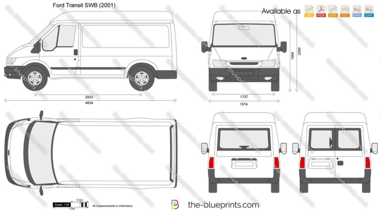 ford transit swb vector drawing. Black Bedroom Furniture Sets. Home Design Ideas