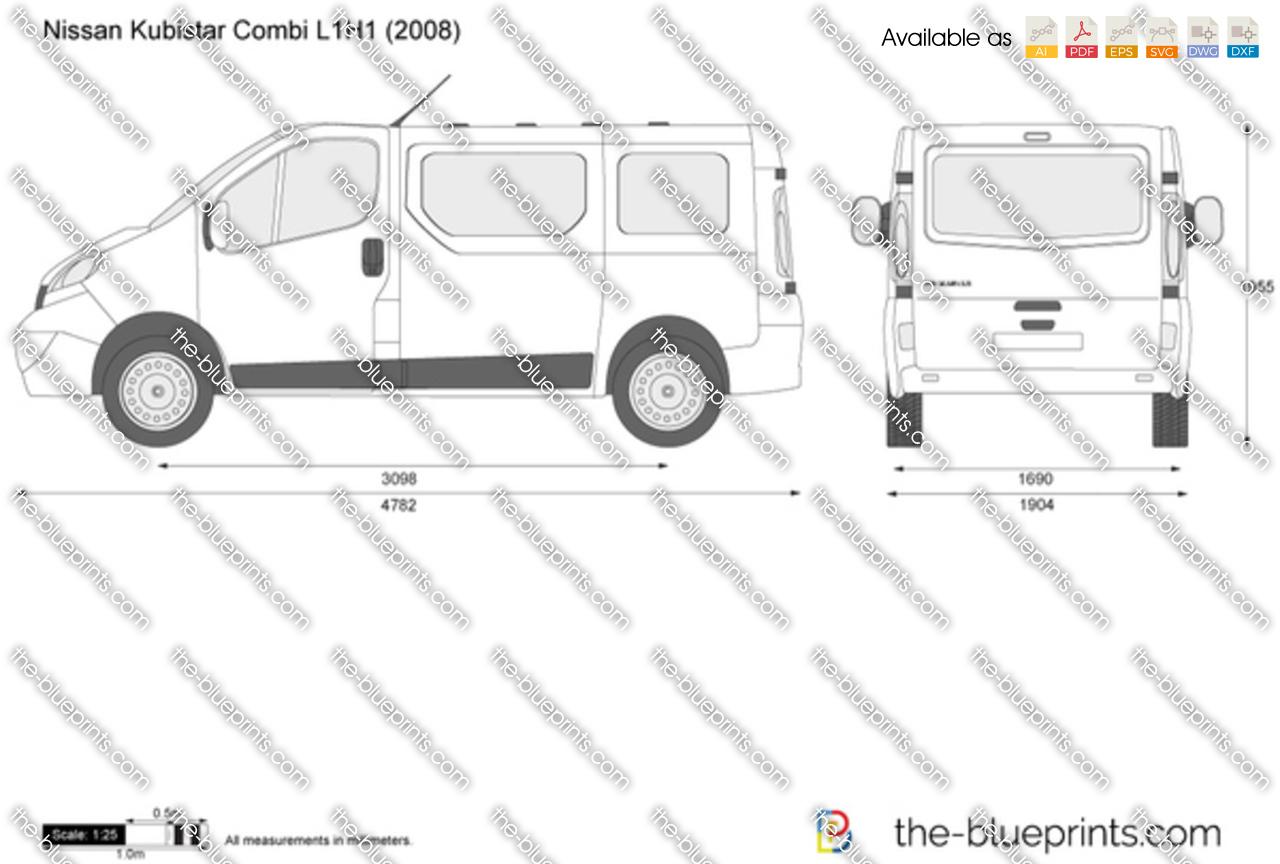 nissan primastar combi l1h1 vector drawing. Black Bedroom Furniture Sets. Home Design Ideas