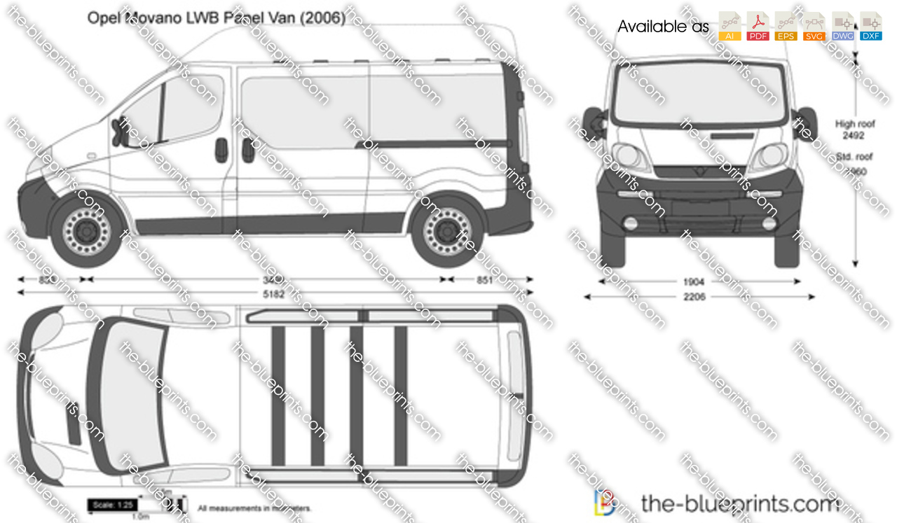 the vector drawing opel vivaro lwb panel van. Black Bedroom Furniture Sets. Home Design Ideas