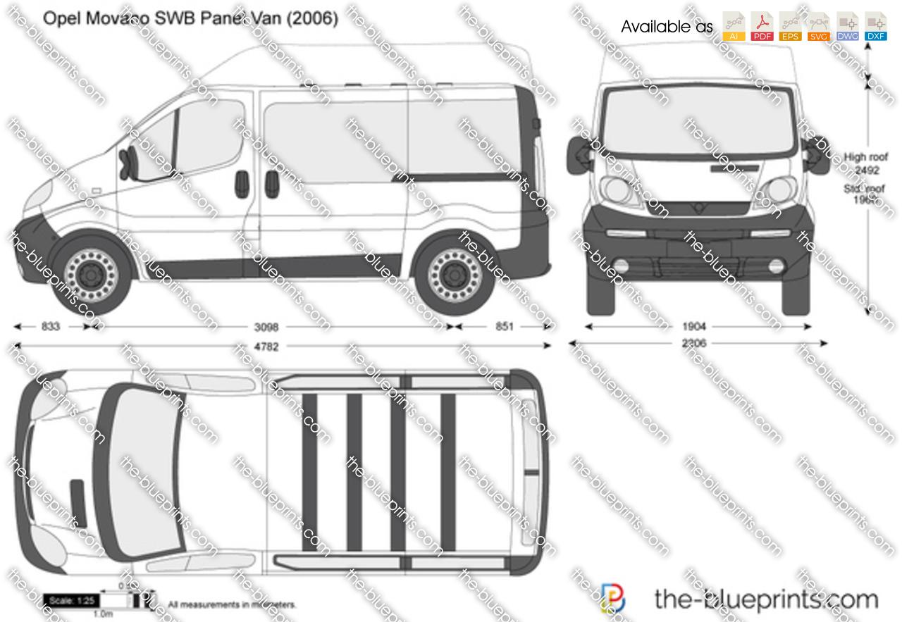 The blueprints vector drawing opel vivaro swb panel van opel vivaro swb panel van malvernweather Images