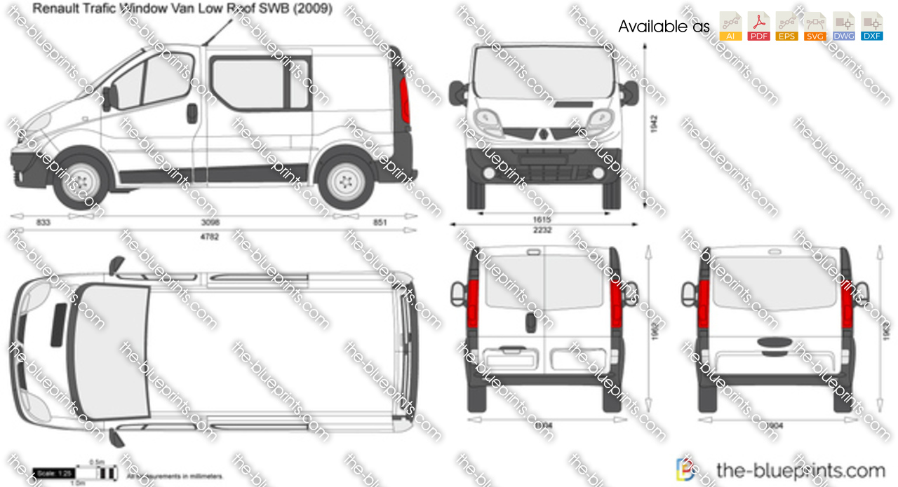 the vector drawing renault trafic window van low roof swb tailgate. Black Bedroom Furniture Sets. Home Design Ideas