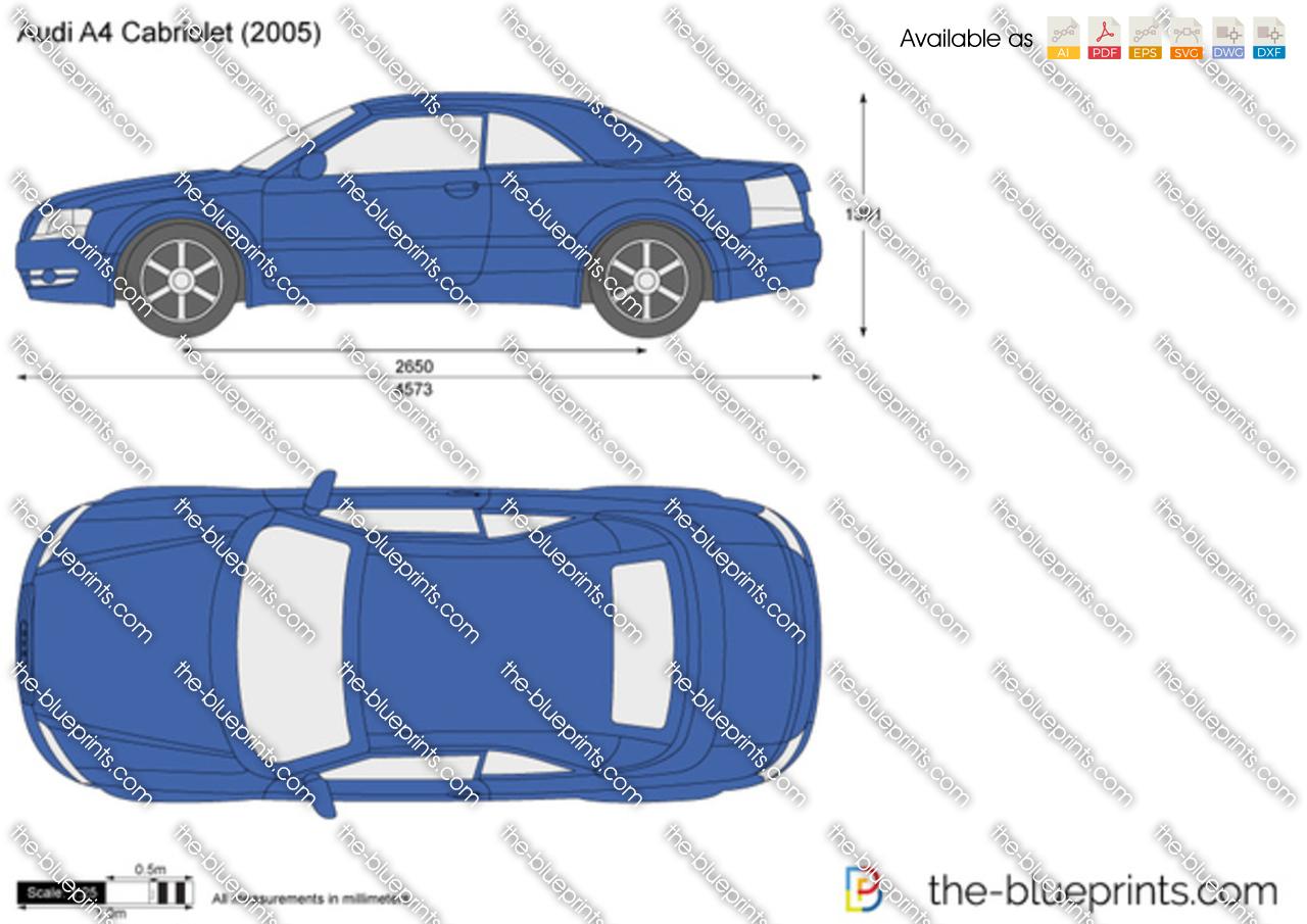 The Blueprints Com Vector Drawing Audi A4 Cabriolet