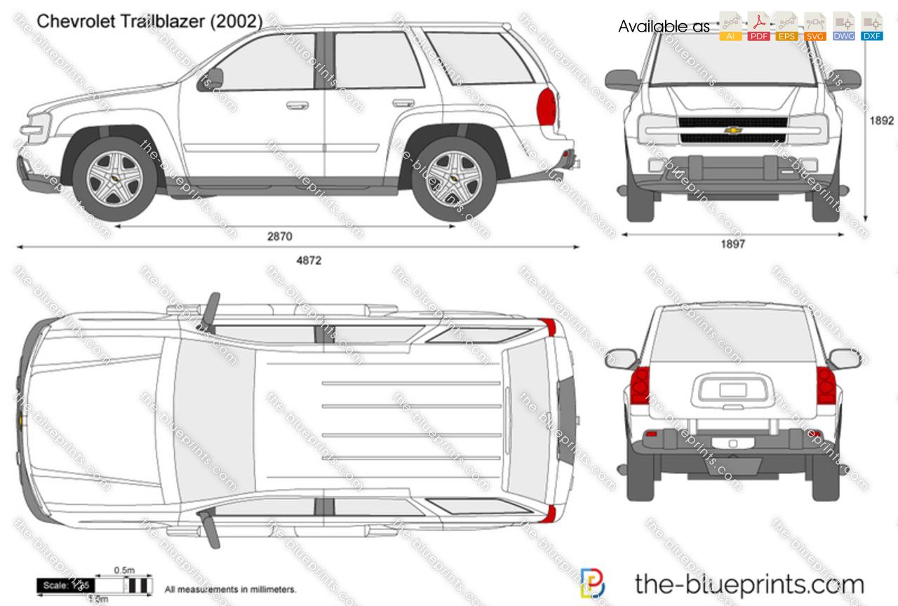 Chevrolet Trailblazer Vector Drawing