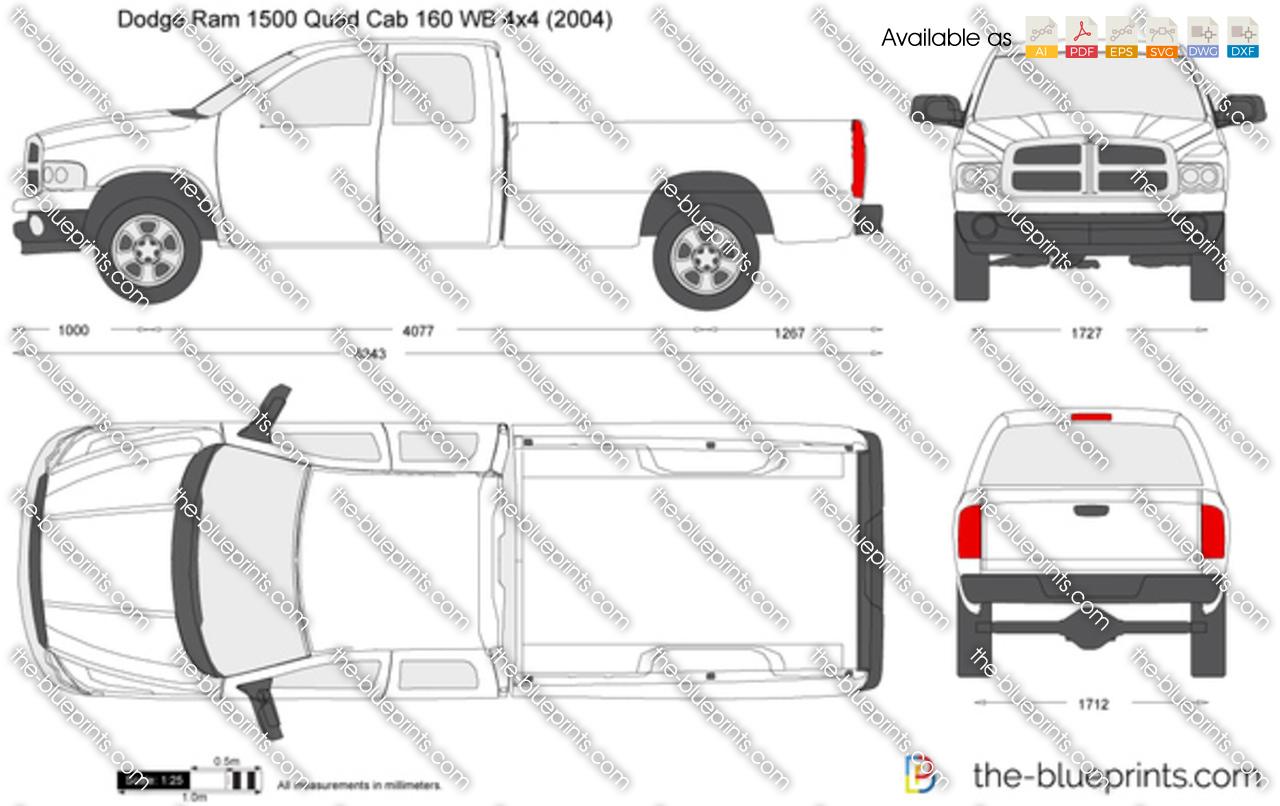 The Blueprints Com Vector Drawing Dodge Ram 1500 Quad